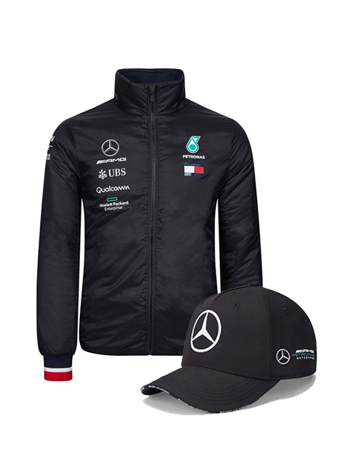MERCEDES-AMG-PETRONAS-LIGHTWEIGHT-JACKET-TEAM-CAP-BUNDLE