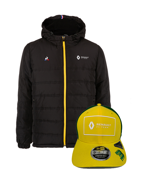 RENAULT-PARKA-JACKET-DAN-AUST-NEW-ERA-CAP-BUNDLE
