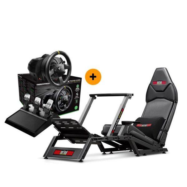 Next Level Racing F-GT Formula & GT Simulator Cockpit + Thrustmaster TX Racing Wheel Leather Edition – image 1